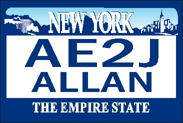 NEW YORK LICENSE NAME TAG LARGE - Product Image