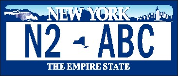 NEW YORK LICENSE NAME TAG SMALL - Product Image