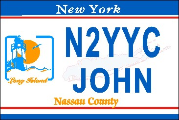 NEW YORK NASSAU COUNTY NAME TAG LARGE - Product Image