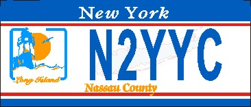 NEW YORK NASSAU COUNTY NAME TAG SMALL - Product Image