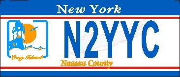 NEW YORK NASSAU COUNTY NAME TAG SMALL - Product Image