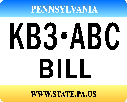 PENNSYLVANIA MOUSE PAD LICENSE PLATE - Product Image