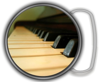 PIANO KEYS FLAME BUCKLE ROUND - Product Image