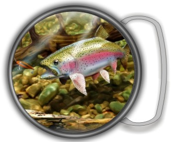 RAINBOW TROUT BUCKLE ROUND - Product Image