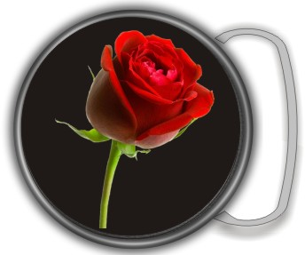 RED ROSE BUCKLE ROUND - Product Image