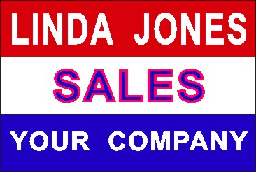 RED WHITE & BLUE NAME TAG - Product Image