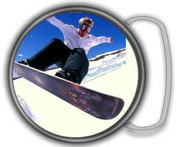 SNOWBOARDING BUCKLE ROUND - Product Image
