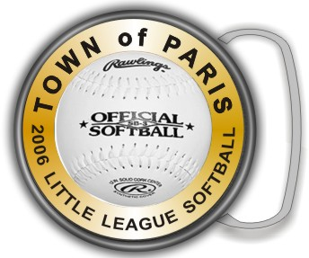 SOFTBALL BUCKLE ROUND - Product Image