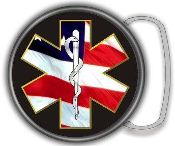 STAR OF LIFE FLAG BUCKLE ROUND - Product Image