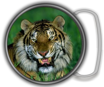 TIGER PHOTO BUCKLE ROUND - Product Image