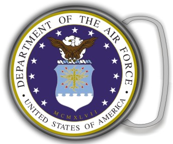 US AIR FORCE SEAL BUCKLE ROUND - Product Image