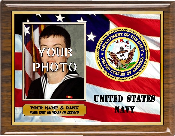 US NAVY PHOTO PLAQUE - Product Image