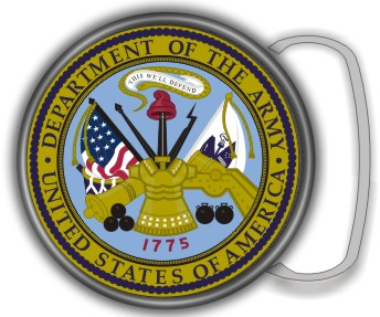US ARMY SEAL BUCKLE ROUND - Product Image