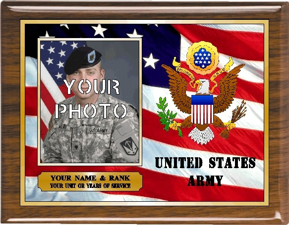 US ARMY PHOTO PLAQUE - Product Image
