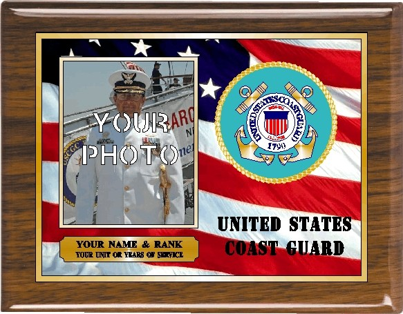 US COAST GUARD PHOTO PLAQUE - Product Image