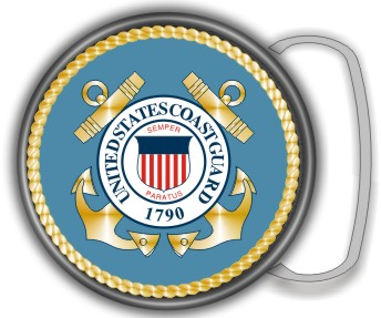 US COAST GUARD SEAL BUCKLE ROUND - Product Image