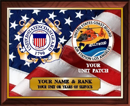 US COAST GUARD SERVICE PLAQUE - Product Image