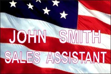 US FLAG NAME TAG - Product Image