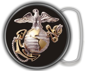 US MARINES BUCKLE ROUND - Product Image