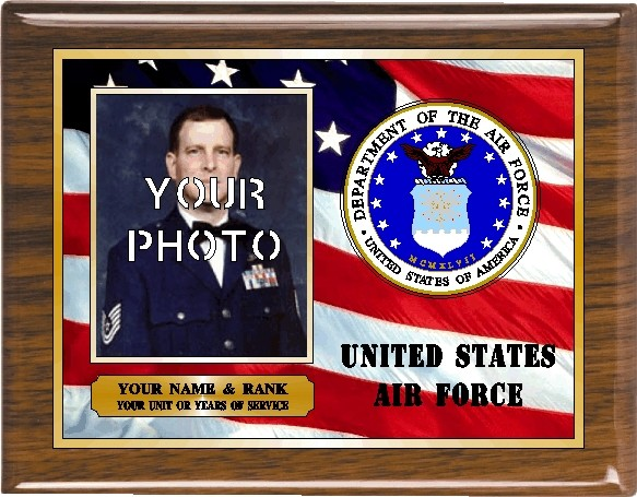 US AIR FORCE PHOTO PLAQUE - Product Image