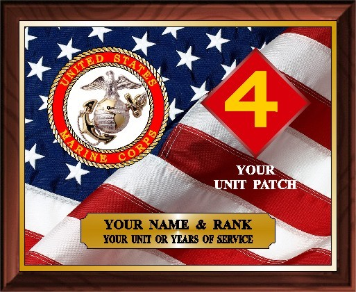 US MARINES SERVICE PLAQUE - Product Image