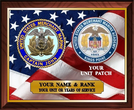 US MERCHANT MARINE SERVICE PLAQUE - Product Image