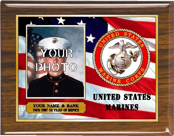 US MARINES PHOTO PLAQUE - Product Image
