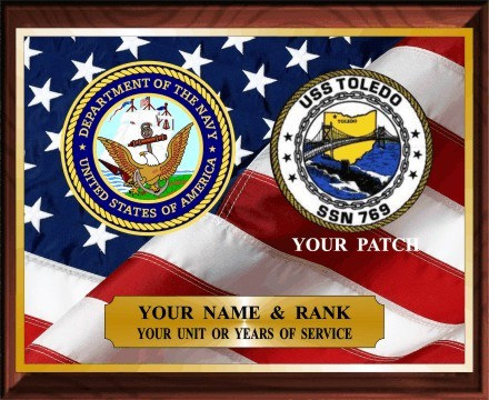 US NAVY SERVICE PLAQUE - Product Image