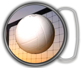 VOLLYBALL BUCKLE ROUND - Product Image