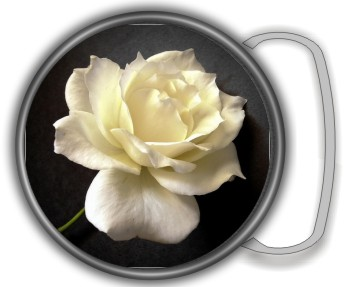 WHITE ROSE BUCKLE ROUND - Product Image