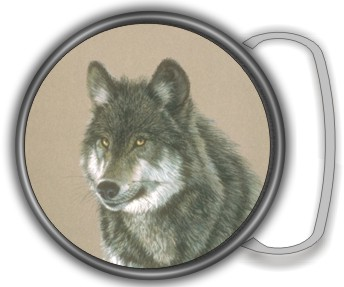 WOLF BUCKLE ROUND - Product Image
