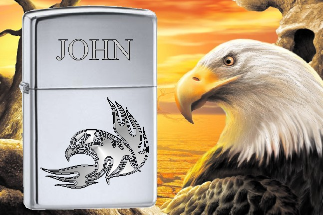 ZIPPO LIGHTER EAGLE HEAD DESIGN - Product Image