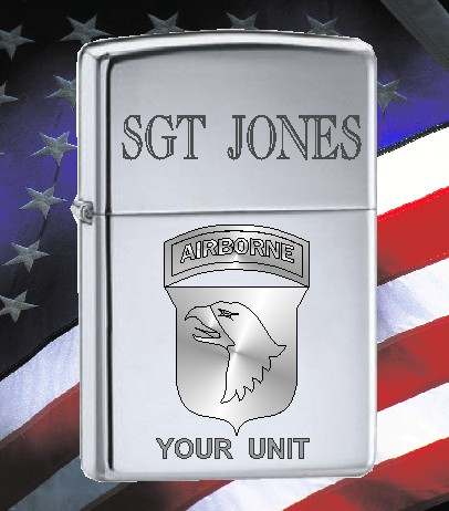 ZIPPO LIGHTER US ARMY 101 AIRBORNE PATCH - Product Image
