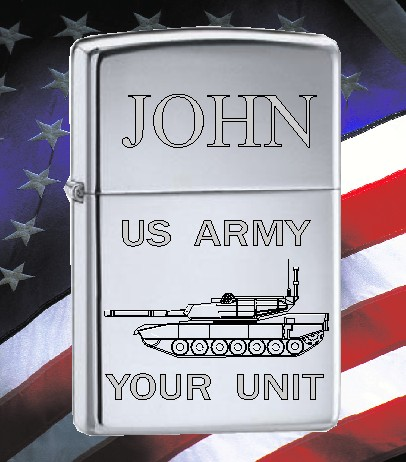 ZIPPO LIGHTER US ARMY TANK DESIGN - Product Image