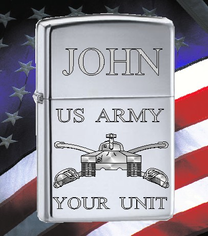 ZIPPO LIGHTER US ARMY ARMOUR DESIGN - Product Image