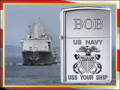 ZIPPO LIGHTER US NAVY CREST - Product Image