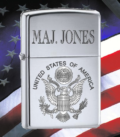 ZIPPO LIGHTER US SEAL - Product Image
