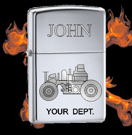 ZIPPO LIGHTER WITH ANTIQUE FIRE TRUCK - Product Image
