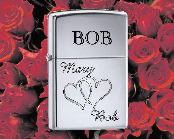 ZIPPO LIGHTER WITH HEART - Product Image