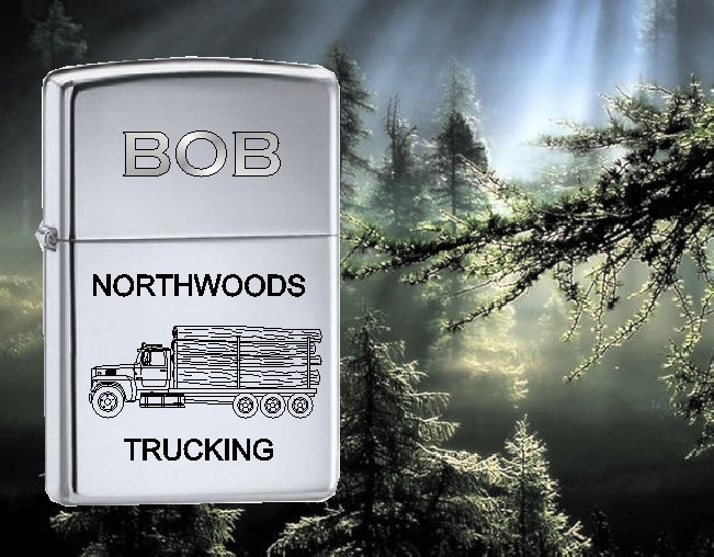 ZIPPO LIGHTER WITH LOGGING TRUCK - Product Image