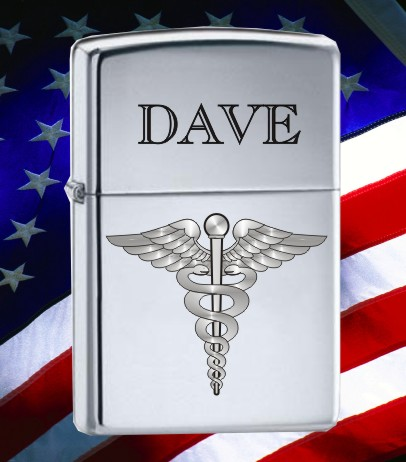 ZIPPO LIGHTER WITH MEDICAL CADUCEUS - Product Image