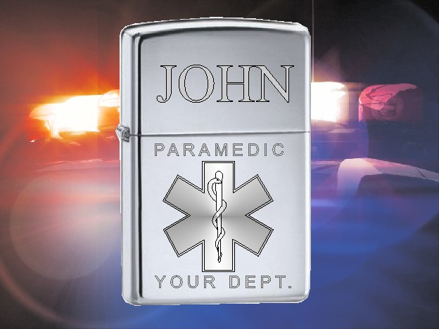 ZIPPO LIGHTER WITH STAR OF LIFE DESIGN - Product Image