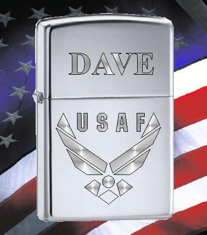 ZIPPO LIGHTER WITH U S AIR FORCE LOGO - Product Image