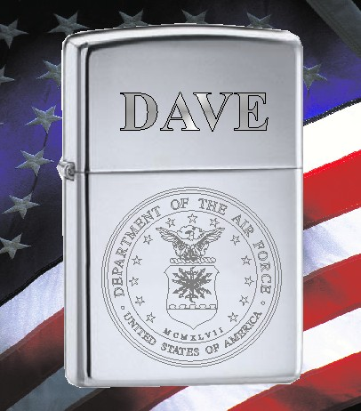 ZIPPO LIGHTER WITH U S AIR FORCE SEAL - Product Image