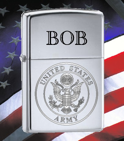 ZIPPO LIGHTER WITH U S ARMY SEAL - Product Image