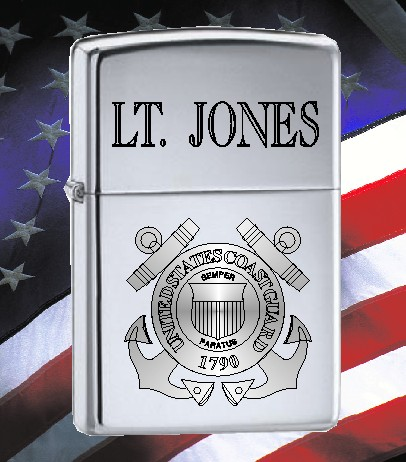 ZIPPO LIGHTER WITH U S COAST GUARD SEAL - Product Image
