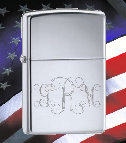 ZIPPO LIGHTER WITH YOUR MONOGRAM - Product Image